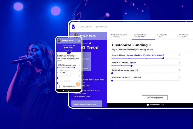funding platform for budding musicians
